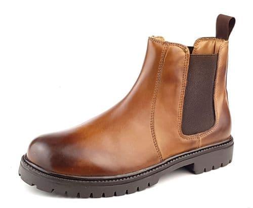 Frank James Rutland Cognac Junior Chelsea Boots